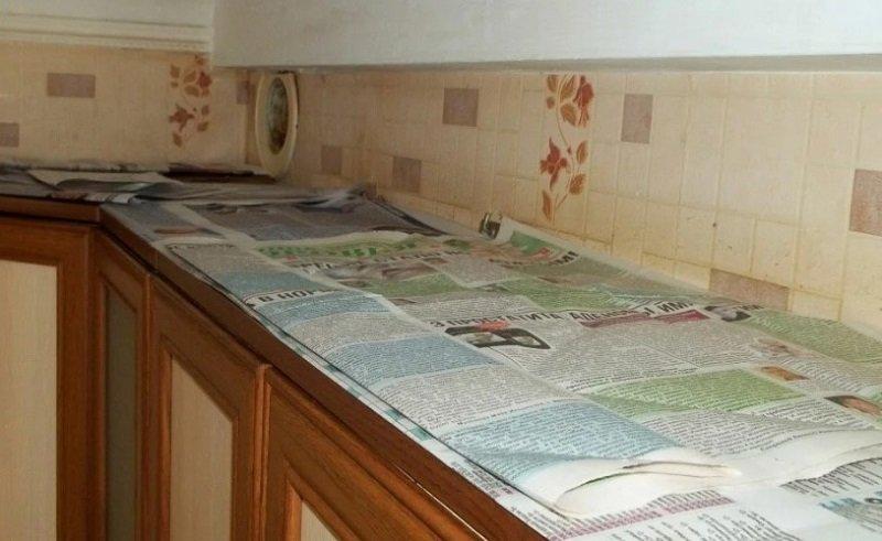 Как использовать газеты на кухне Советы,Газеты,Кухня,Лайфхаки,Пыль,Уборка