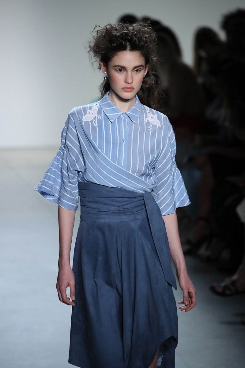 юбка с высокой талией