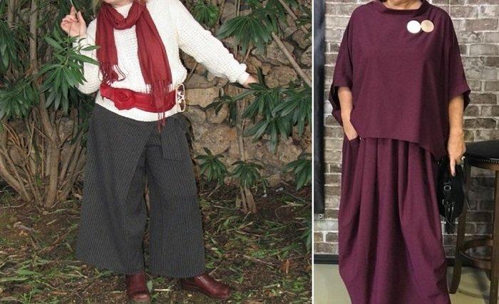 одежда в стиле бохо для женщин за 50