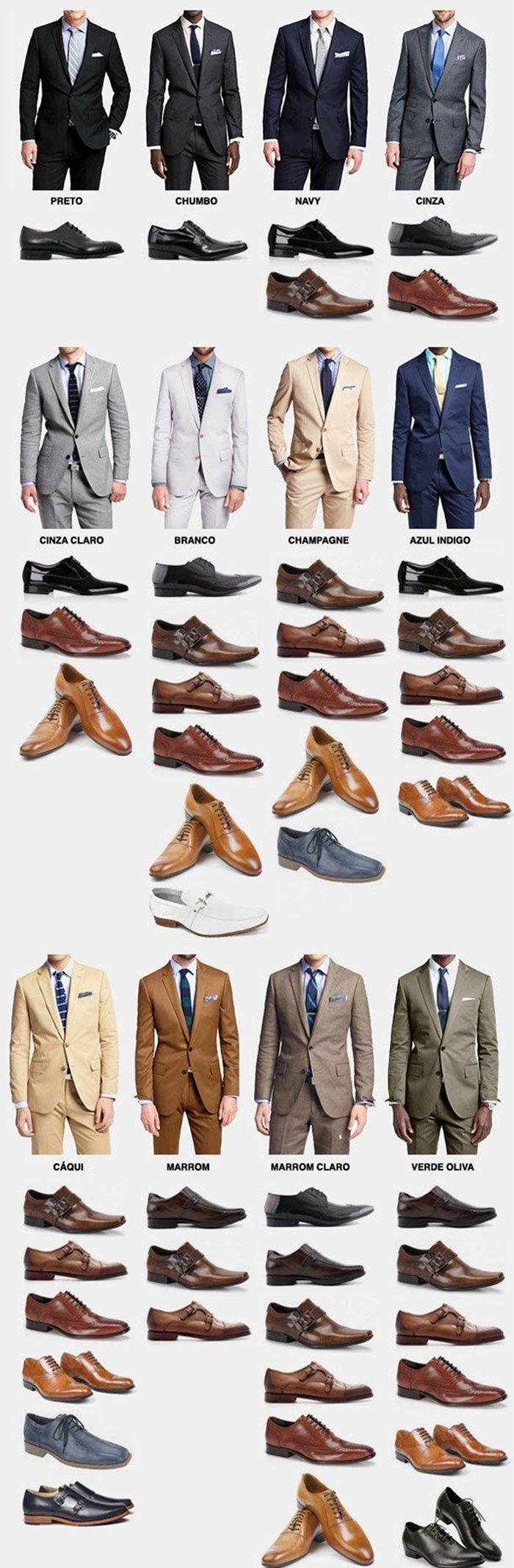 сочетание костюма и обуви
