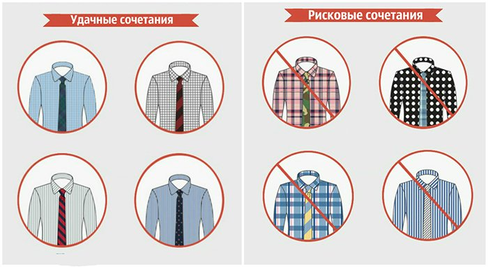 комбинирование галстука и рубашки