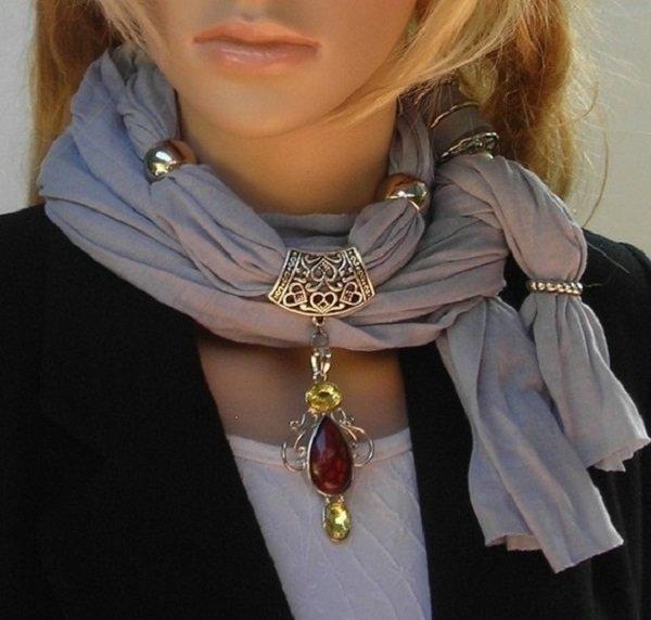стильный шарф своими руками