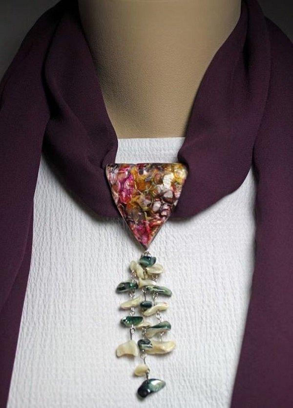 вязание спицами стильный шарф