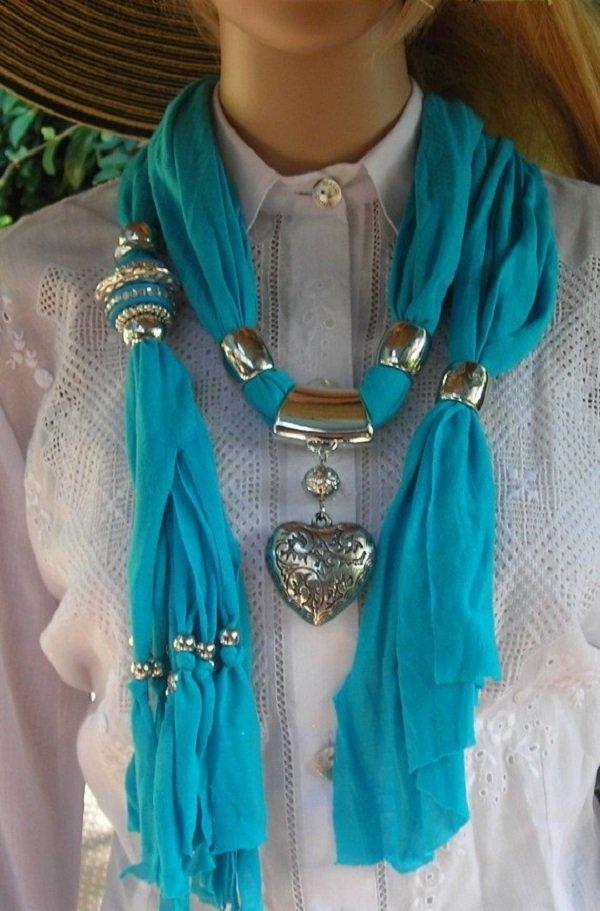 как связать стильный шарф