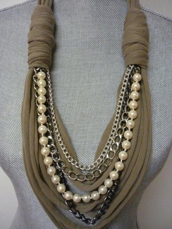 стильный шарф крючком
