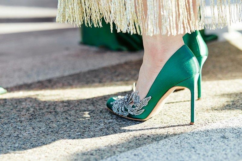 зеленые туфли с чем носить