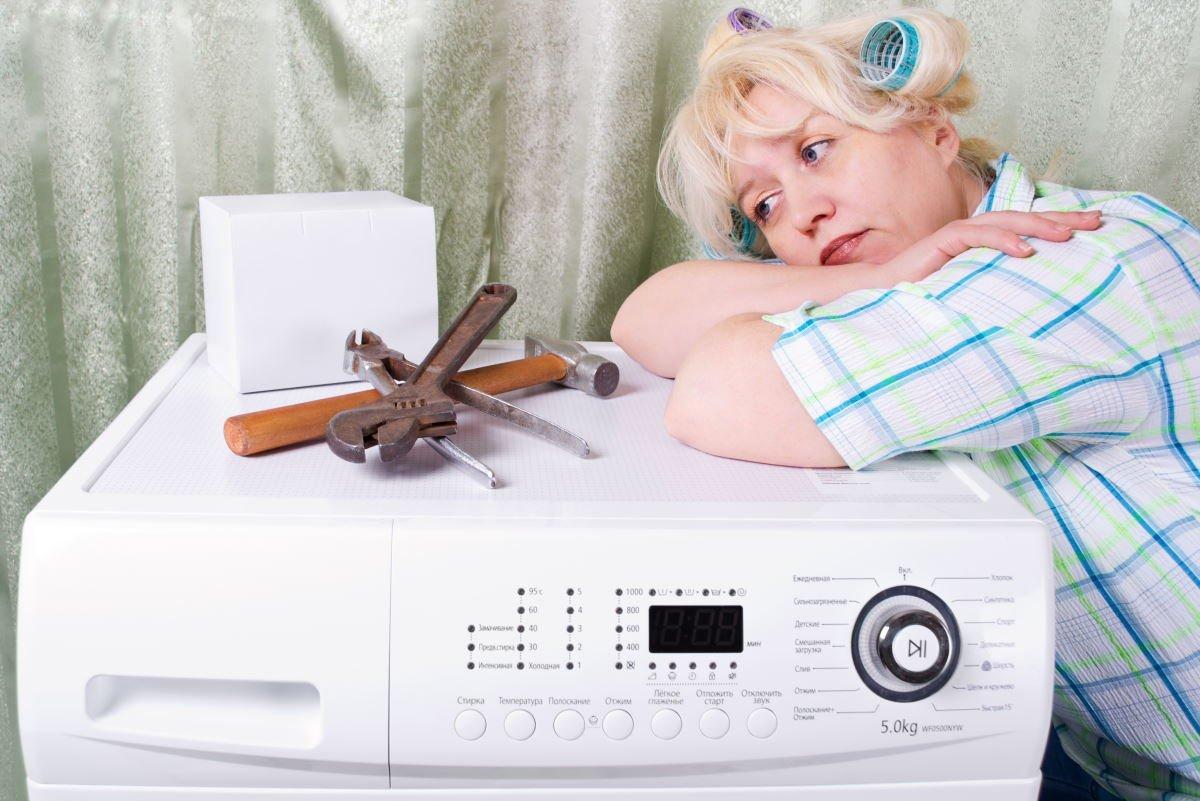 стиральная машина в барабане вода