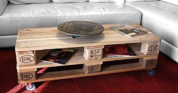 Сделай сам: оригинальный и эффектный журнальный столик, который не стоит почти ничего.