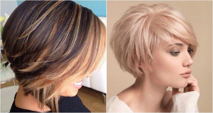 градуированный боб для тонких волос
