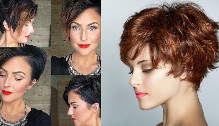модные стрижки асимметрия на короткие волосы