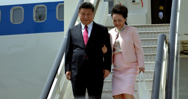 Belgrade, Serbia. 17th June, 2016. Chinese President Xi Jinping's plane landed at Belgrade's Nikola Tesla International airport. On the ground, Xi and his wife, Peng Liyuan, were greeted by Serbian President Tomislav Nikolic and his wife