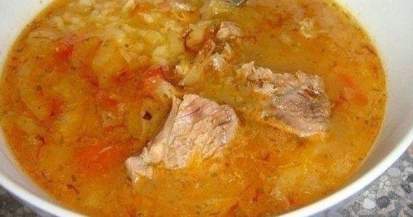 Грузинский пряный суп харчо. Сытное кушанье для любителей кавказской кухни.