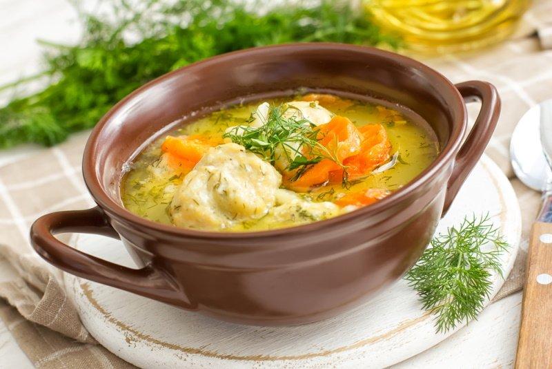 суп с фрикадельками и клецками рецепт