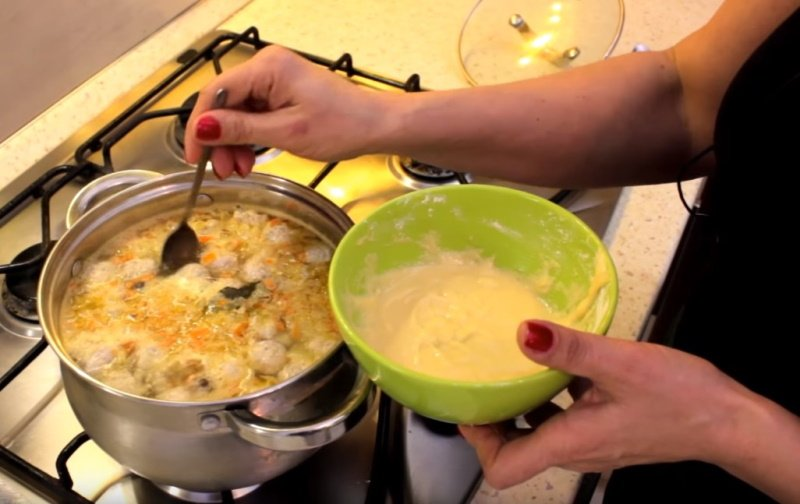 суп с фрикадельками без макарон