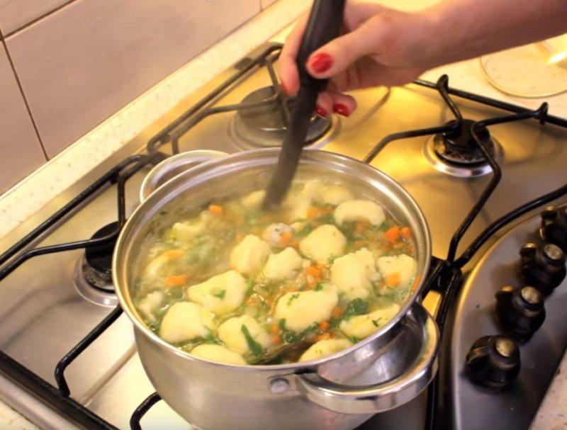 суп с фрикадельками без лапши