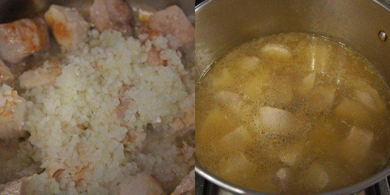 суп с квашеной капустой и грибами