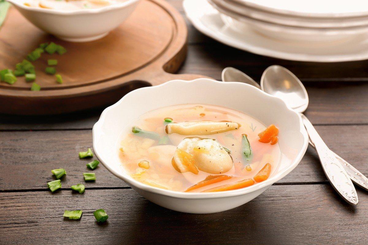 суп с пельменями по-азербайджански