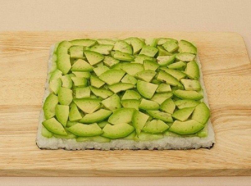 приготовление суши-торта