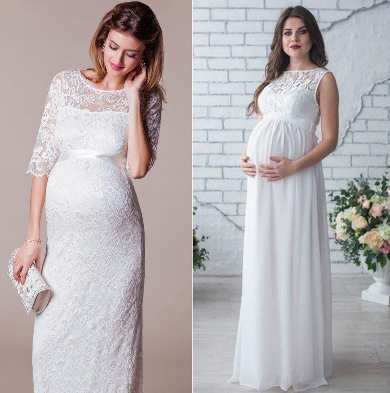 беременная невеста платье