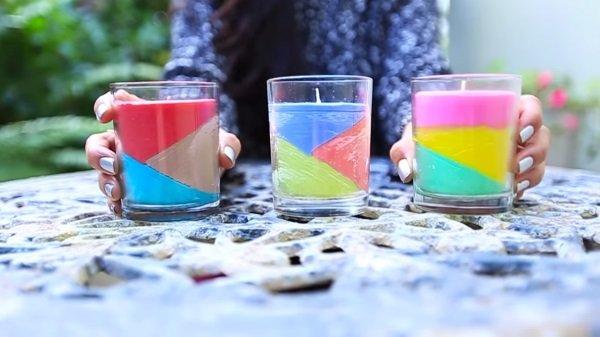 как сделать свечку из мелков