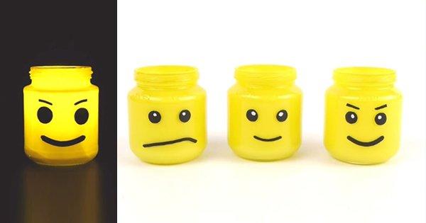 Для всех фанатов LEGO: этот оригинальный светильник из банки добавит новизны домашнему декору.
