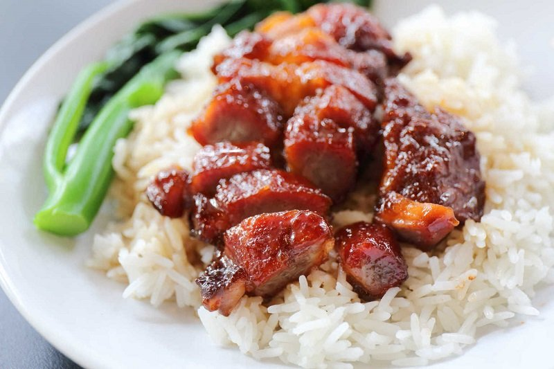 свинина по китайски с зеленым луком