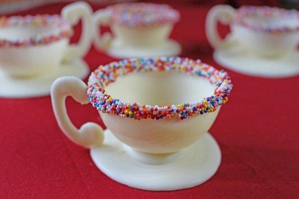 съедобные шоколадные чашечки