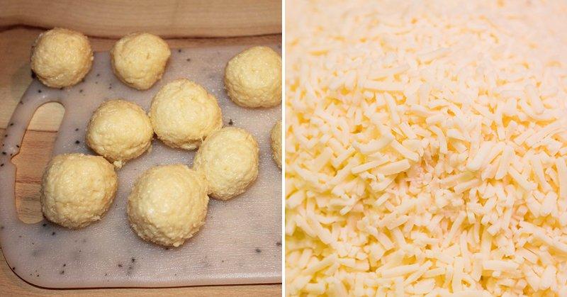 сырные шарики без панировочных сухарей