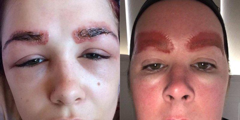 техника перманентного макияжа бровей