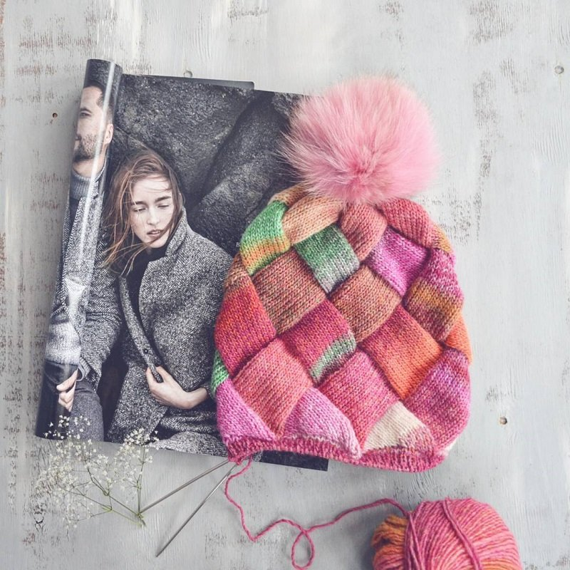 техника вязания капюшона