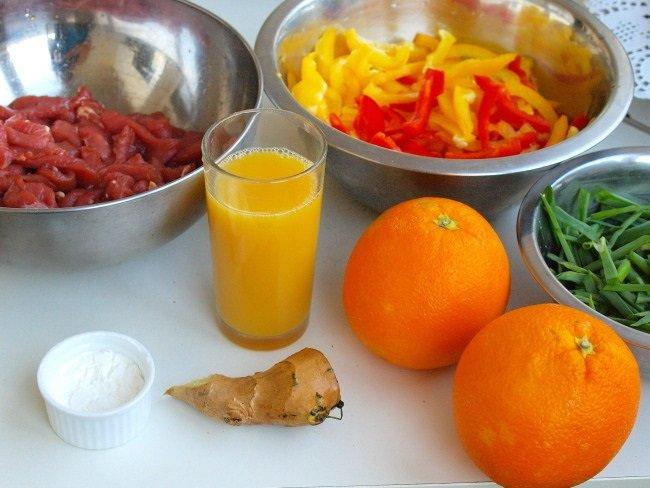мясо,апельсины