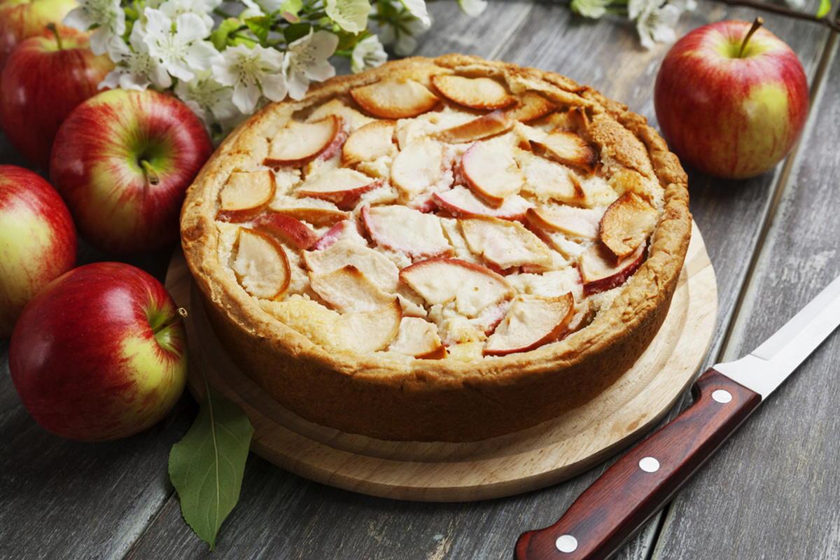 тесто для яблочного пирога на молоке