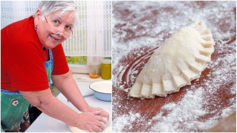 Хозяйка месит тесто