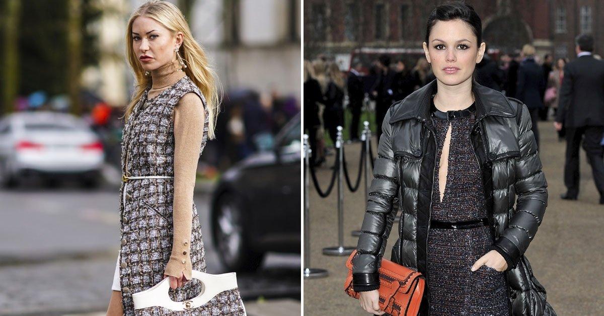 Будут ли модницы покупать на осень твидовые платья и костюмы