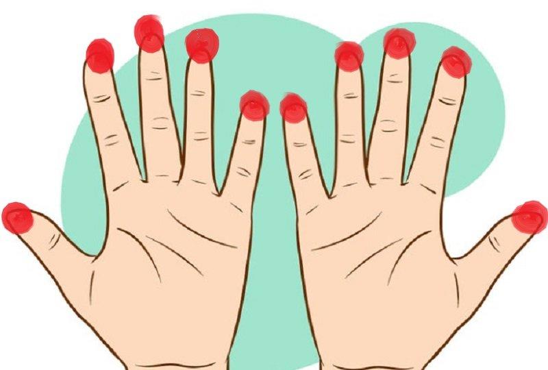точки на пальцах