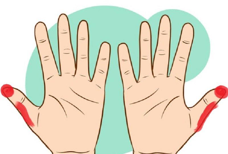 массаж точек на руках