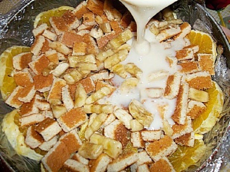 торт без выпечки с фруктами и желе