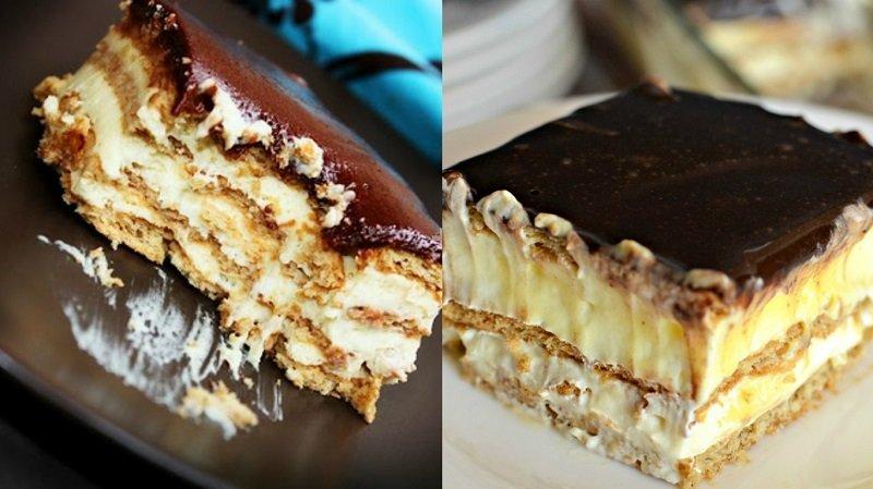 Картинки по запросу Десерты Вкуснющий торт-эклер без выпечки