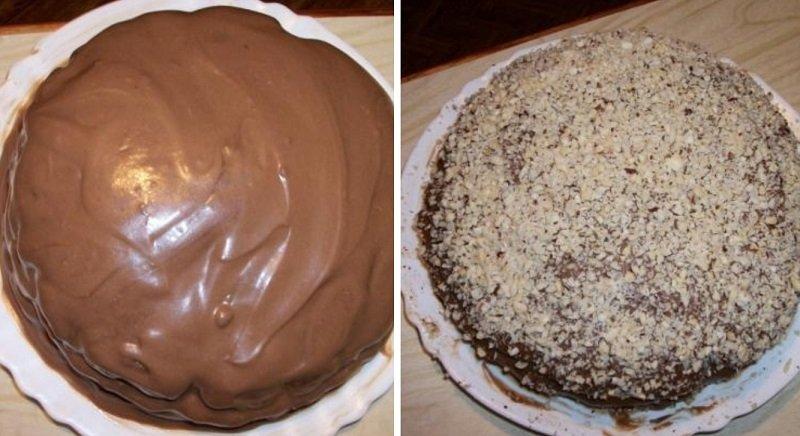 торт черный принц с орехами