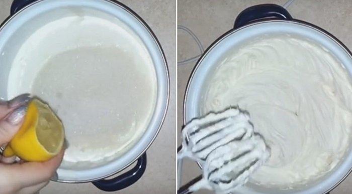 вафельный торт со сгущенкой без масла