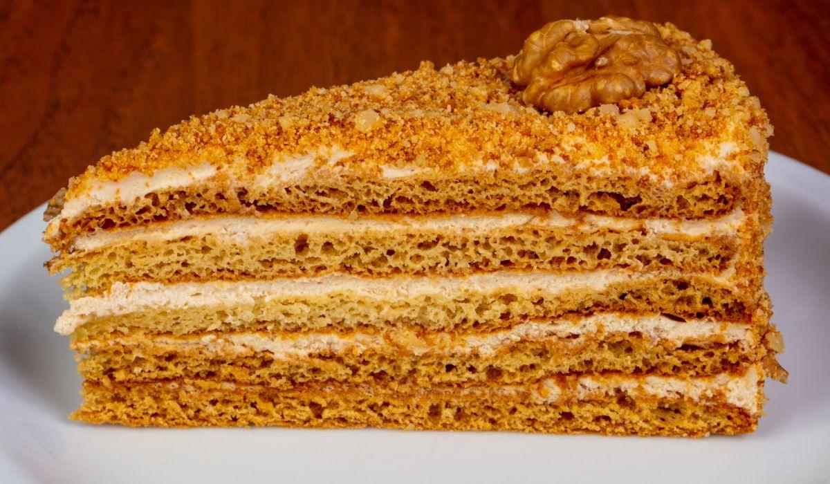 Рецепт торта «Карамельная девочка» со сгущенным молоком Кулинария,Кофе,Сгущенка,Сметана,Торты