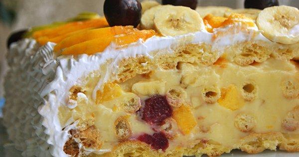 Вкусные торты с фруктами рецепты