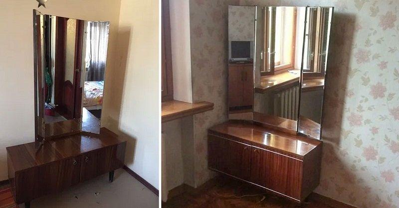 Почему советский трельяж состоит из трех зеркал и куда его деть