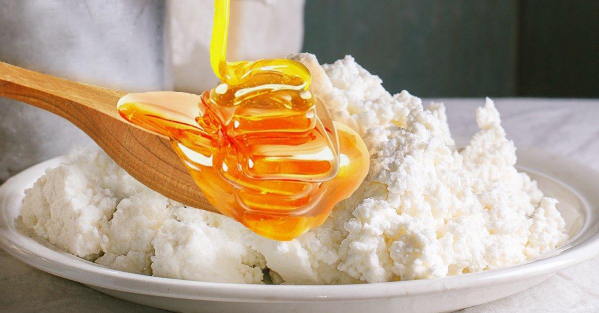 Творог с мёдом
