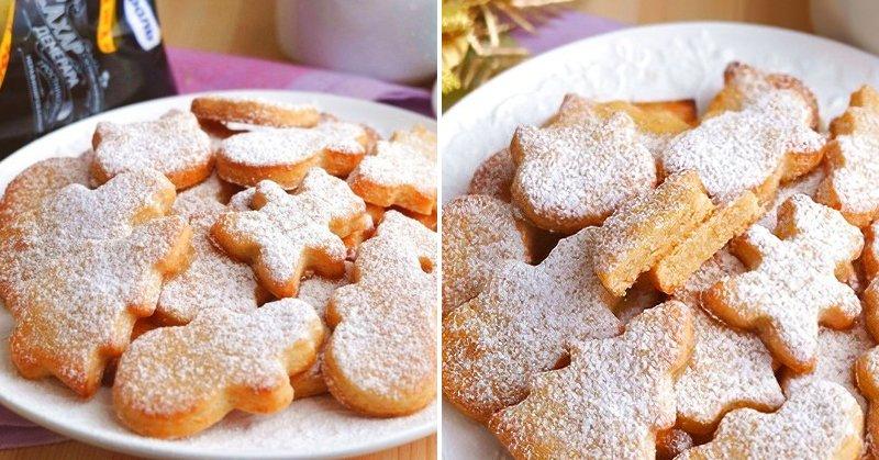 творожное печенье в сахаре