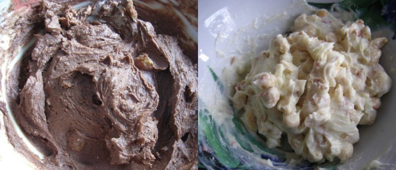 пирожные из творога и печенья