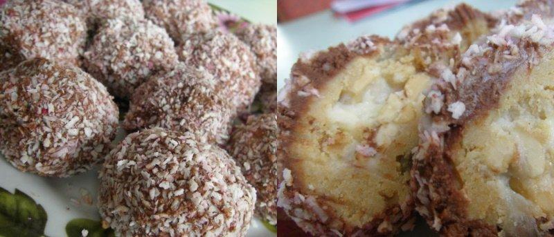 лимонные пирожные с кокосом