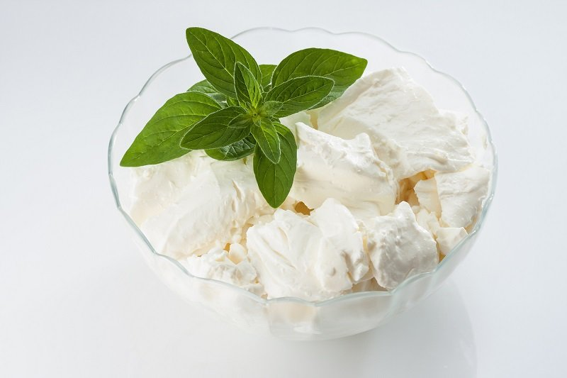 Рецепт творожного десерта с мятой кулинария