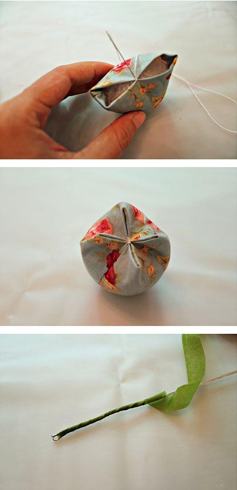 тюльпаны из ткани мастер класс