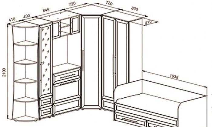угловой шкаф купе с компьютерным столом